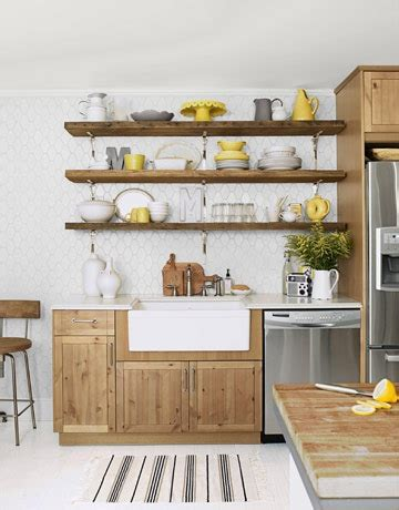 Open Shelving Kitchen Ideas by Our Vintage Home Rustic Open Kitchen Shelving