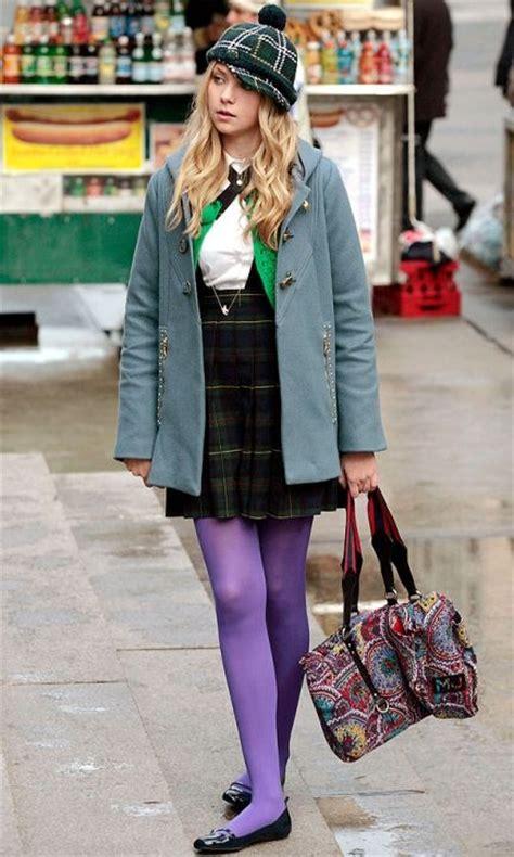 Gossipgirl Legging Pink gossip fabulous fashion moments purple tights