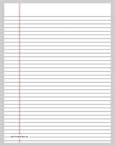printing paper template best photos of template of lined paper wide rule wide