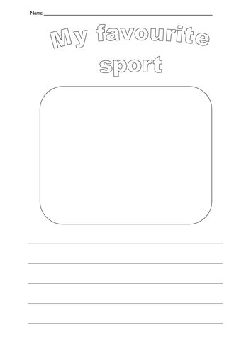 Sport Is My my favourite sport writing activity by ruthbentham