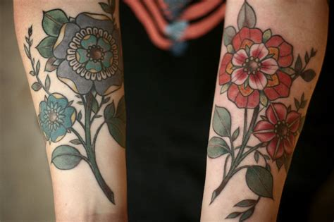 colorful geometric tattoos tattoos color carrier geometric flower