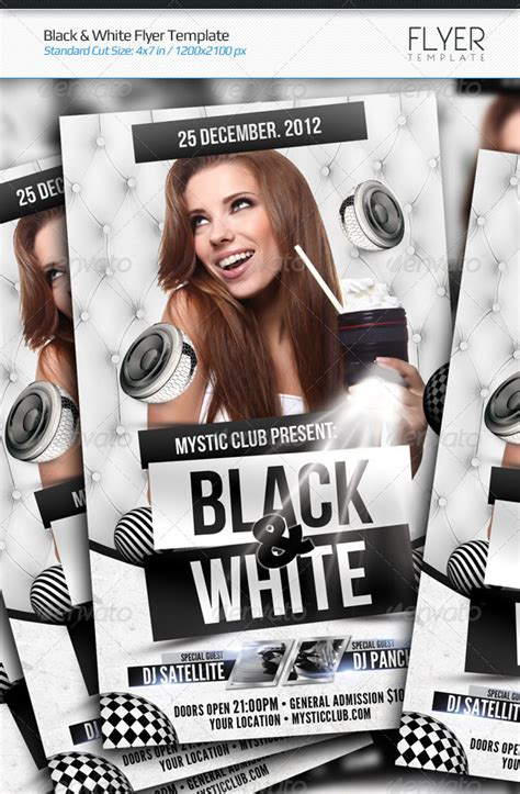 Black White Flyer Template By Arphotography Graphicriver White Flyer Template