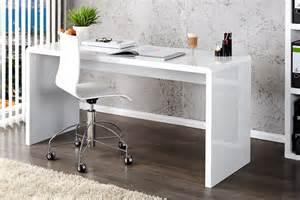 White Desks For Home Office Enzo White High Gloss Computer Office Desk Furniturebox
