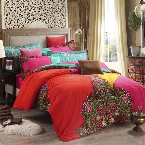 moroccan bedding aliexpress com buy bohemian bedding set 4pcs winter warm