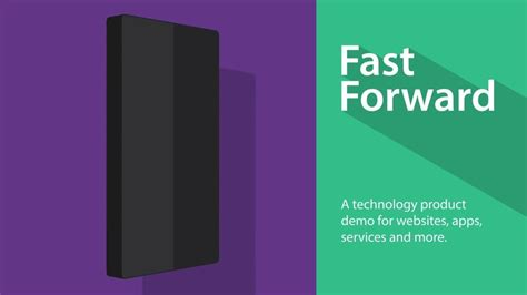 templates after effects promo fast forward tech product demo after effects template