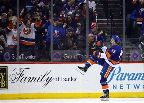 mathew barzal bags career hat trick new york