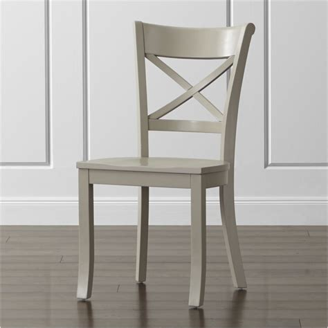 Grey Wooden Dining Chair Admiral Vintner Dove Wood Dining Chair Crate And Barrel