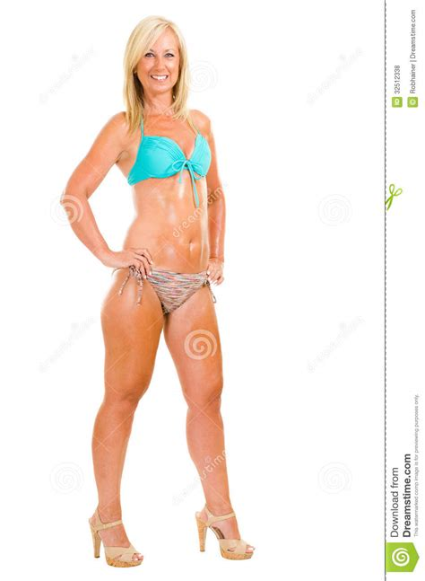 best tankini for middle aged women healthy middle aged woman wearing bikini stock photo