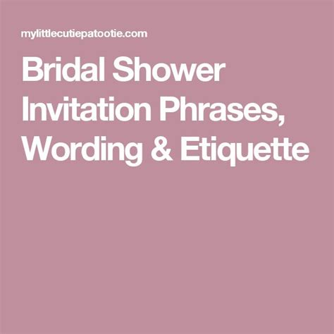 17 best ideas about bridal shower invitation wording on