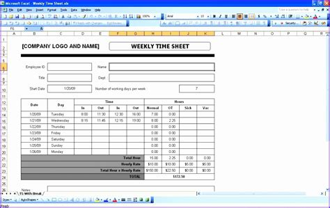 excel timesheet template with formulas 10 timesheet excel template exceltemplates exceltemplates