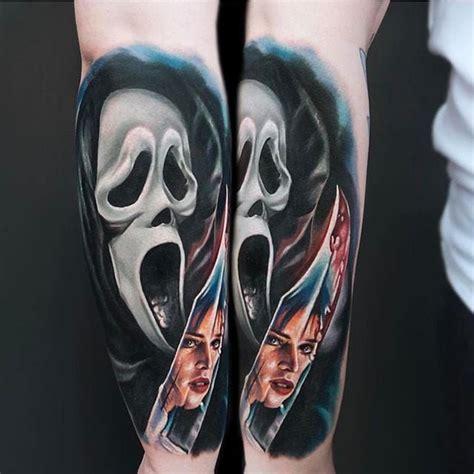 scream tattoo ghostface via ig jordancroketattoo jordancroke