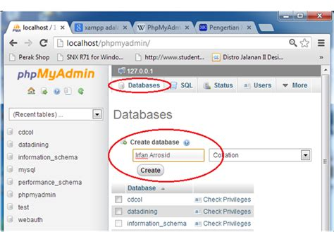 membuat database sql di xp cara membuat database dengan xp 1 7 7 blog bow cara