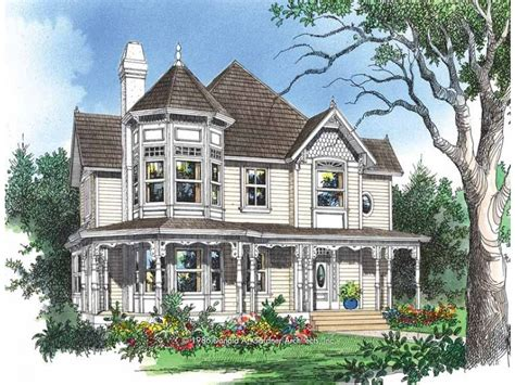 victorian queen anne house plans kitchen opens to a sun room hwbdo07480 queen anne from