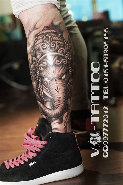 the traditional tattoo the elephant god by tattvv on