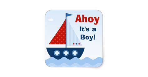 ahoy its a boy picture frame ahoy its a boy baby shower sticker zazzle