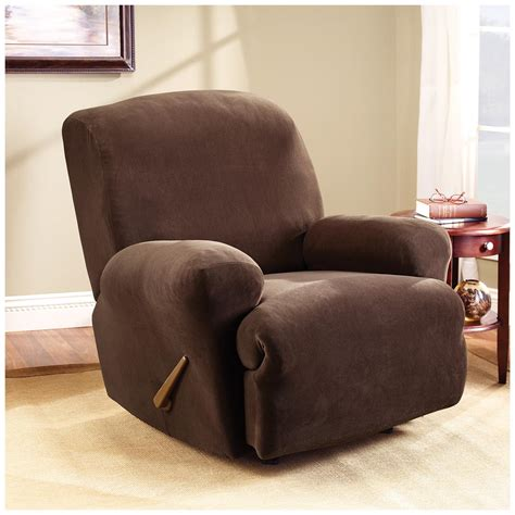 stretch recliner slipcover sure fit 174 stretch pearson recliner slipcover 292825