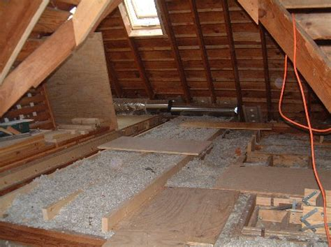 Attic Floor by In The Meantime The Drains Get Put In For The Master