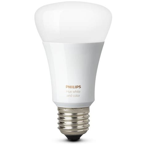 Philips Hue Light Bulbs by Philips Hue White And Color Ambiance A19 Single Bulb 464487 B H