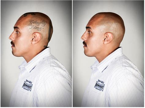 free tattoo removal for ex gang members powerful portraits of ex members with their tattoos