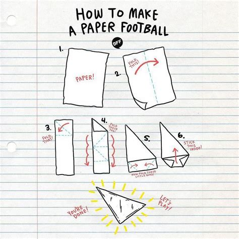 Make A Paper Football - how to make a paper football paper footballs