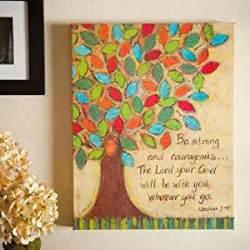 religious wall ideas amazon com religious courageous painting bible verse oil