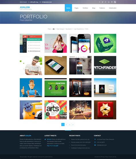 themeforest psd avalon multipurpose psd theme by excellits themeforest