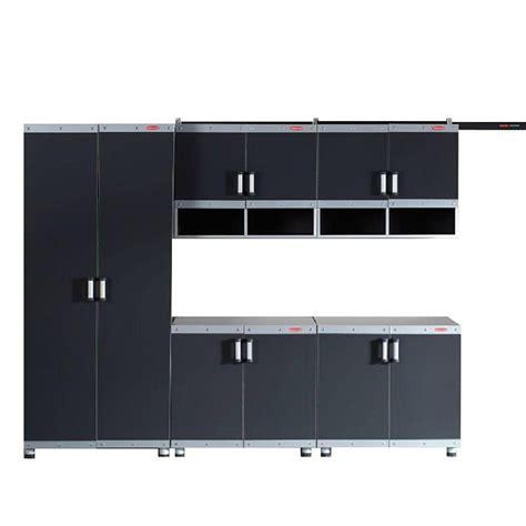 Laminate Garage Cabinets by Rubbermaid Fasttrack Garage Laminate 5 Cabinet Set