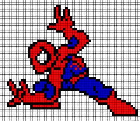 spiderman perler pattern spiderman perler bead pattern minecraft pinterest