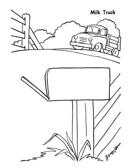 farm equipment coloring pages printable farm milk truck