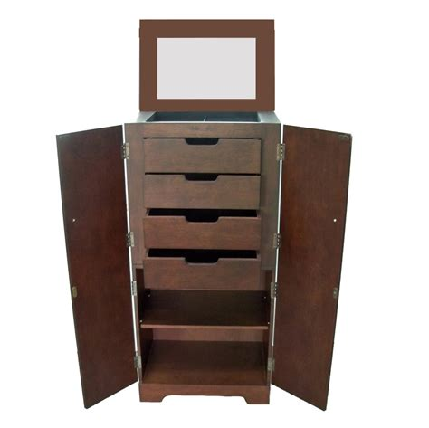 tall jewelry armoire victoria espresso finish tall jewelry armoire