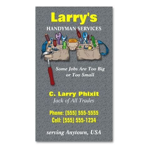 handyman card template 1978 best images about handyman business cards on