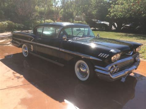 1958 chevy impala ss for sale 1958 chevrolet impala 2 door hardtop barn find for