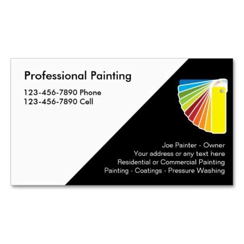 card templates for paint net 199 best images about painter business cards on