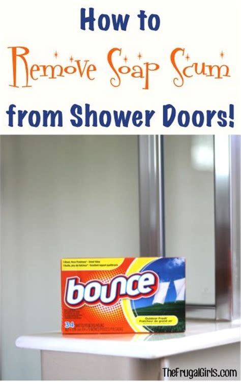 How To Clean Shower Door How To Remove Soap Scum From Shower Doors From Thefrugalgirls These Simple
