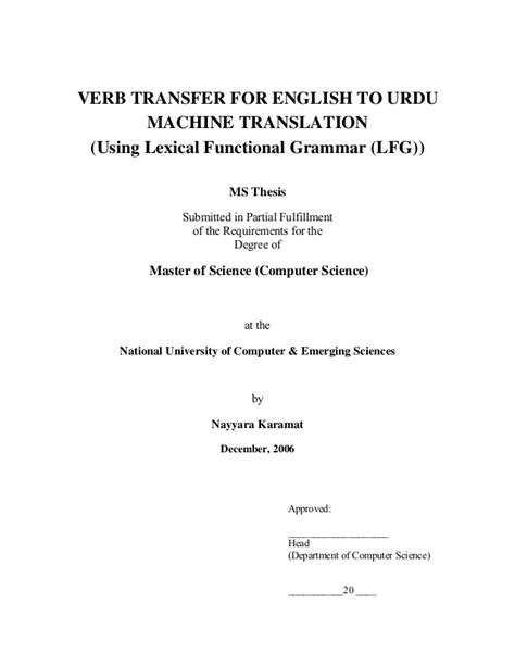Master Thesis About Translation | masters thesis translate