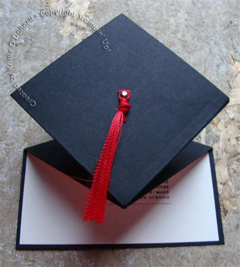 How To Make A Paper Graduation Cap - graduation cap card by krissiev at splitcoaststers