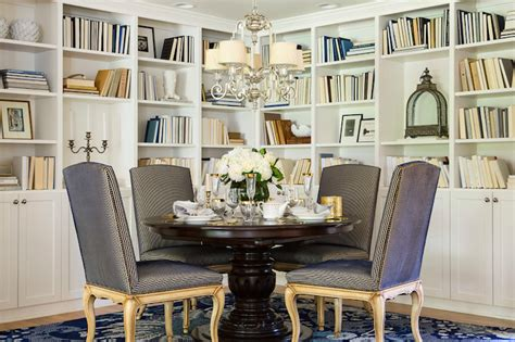 Dining Room Bookshelves Dining Room Bookcase Transitional Dining Room Martha O Hara Interiors