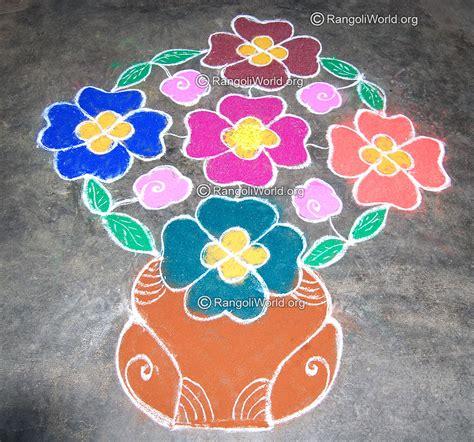 design flower kolam with dots flower kolam designs gallery 4