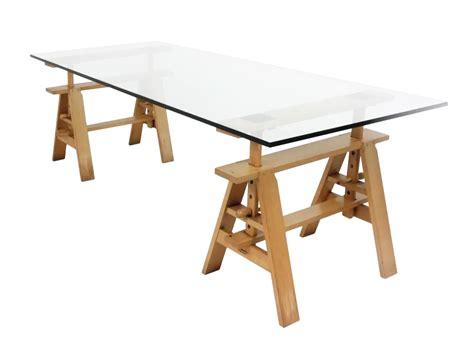 tavoli zanotta zanotta tavolo da lavoro leonardo trasparente cristallo