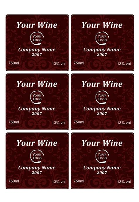 wine bottle label template free wine label downloads wine label template projects