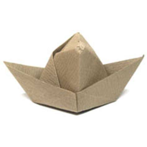 Origami Pilgrim Hat - how to make origami hat