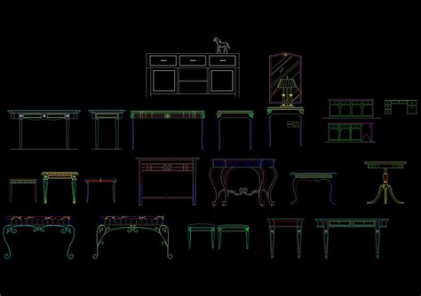 Functional design cad drawing desk plane, Autocad Drawing