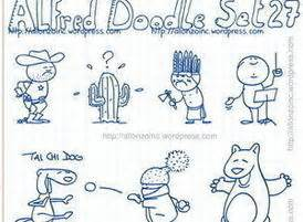 alfred doodle free vector alfred doodle set 27 free vector stock