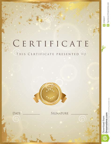 certificate templates free best photos of gold certificate templates gold award