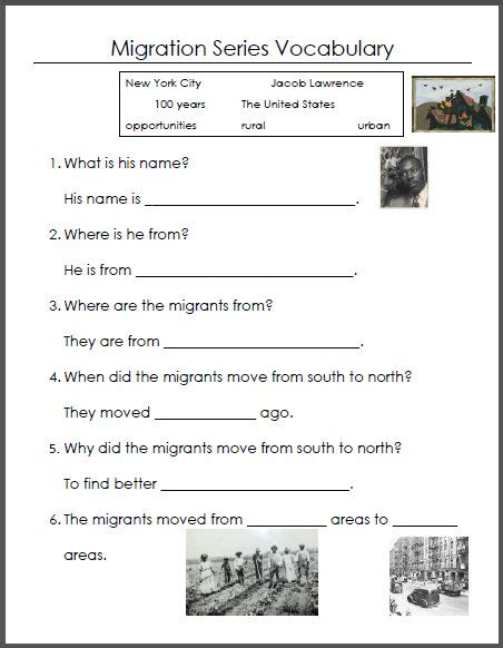 The Great Migration Worksheet Answers