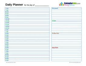 Printable Daily Planner 2017 Daily Calendar Template Word Calendar Picture Templates