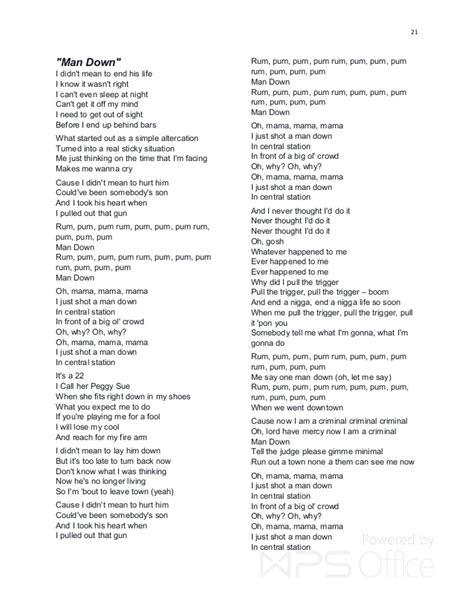 lyrics mankind rihanna hit lyrics