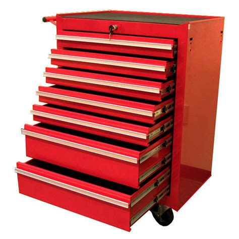 tool cabinets chests excel 27 in 7 drawer roller cabinet tool chest red