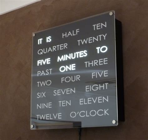 Cool Digital Wall Clocks complete wordclock kit dougs word clocks
