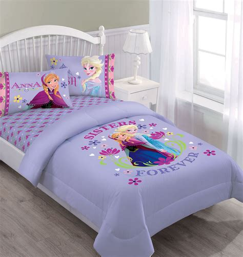 disney frozen bedding disney frozen nordic summer florals comforter set with fitted sheet
